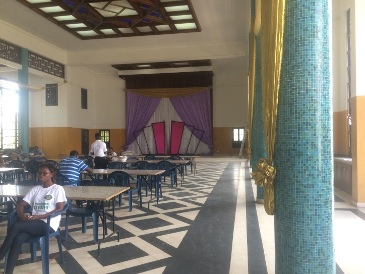 Inside a higher-end building at the University of Ghana
